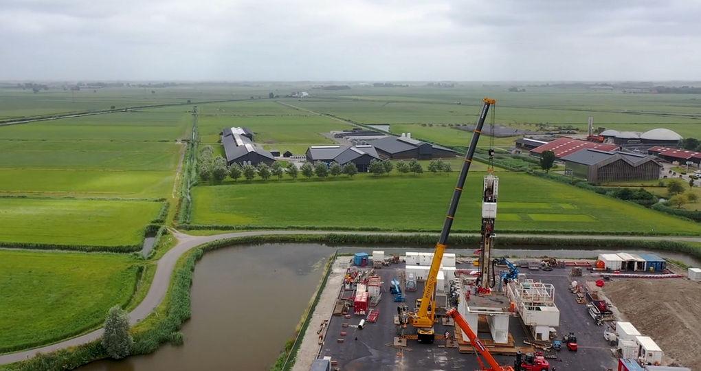 2,7 kilometer diep boren naar bodemwarmte in Friesland