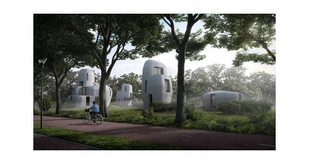 3D-geprinte woning krijgt vorm in Eindhoven