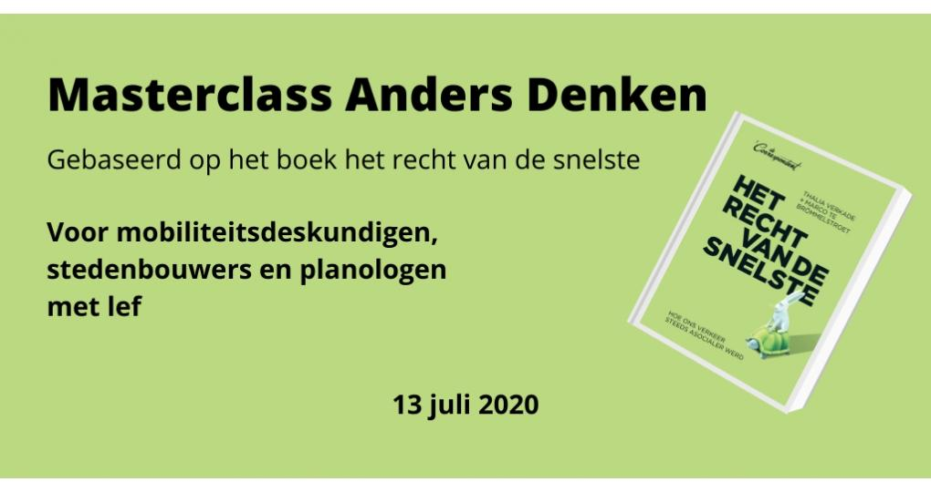 Advertorial: Online Masterclass 'Anders denken'