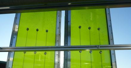 Algen in gevel te bewonderen op Material Xperience Utrecht