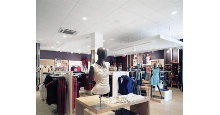 Belgische modeketen kiest voor gerecycled plafond