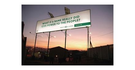 Billboard op zonne-energie