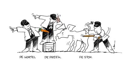 De wortel, de preek en de stok