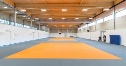Demontabele judoaccommodatie op Papendal