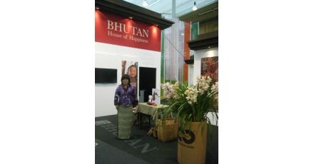 Desso sponsort stand van het land Bhutan op de Floriade 2012