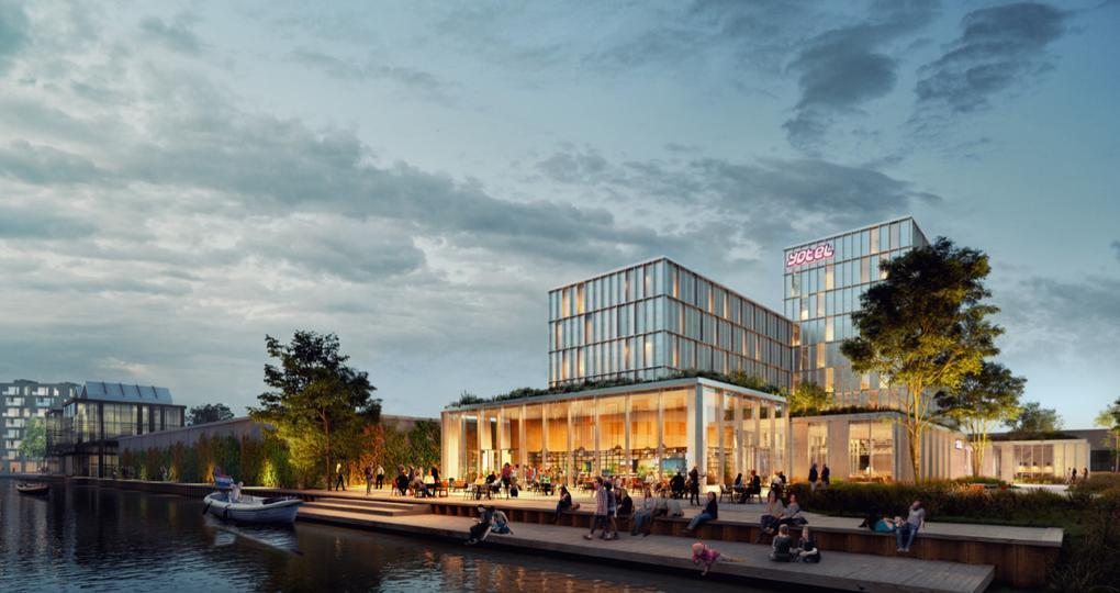 Duurzaam en circulair hotel in Amsterdam Noord