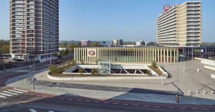 Duurzame gevel voor Heerlens winkelcentrum
