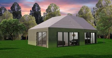 Eerste huis van 100% gerecycled materiaal