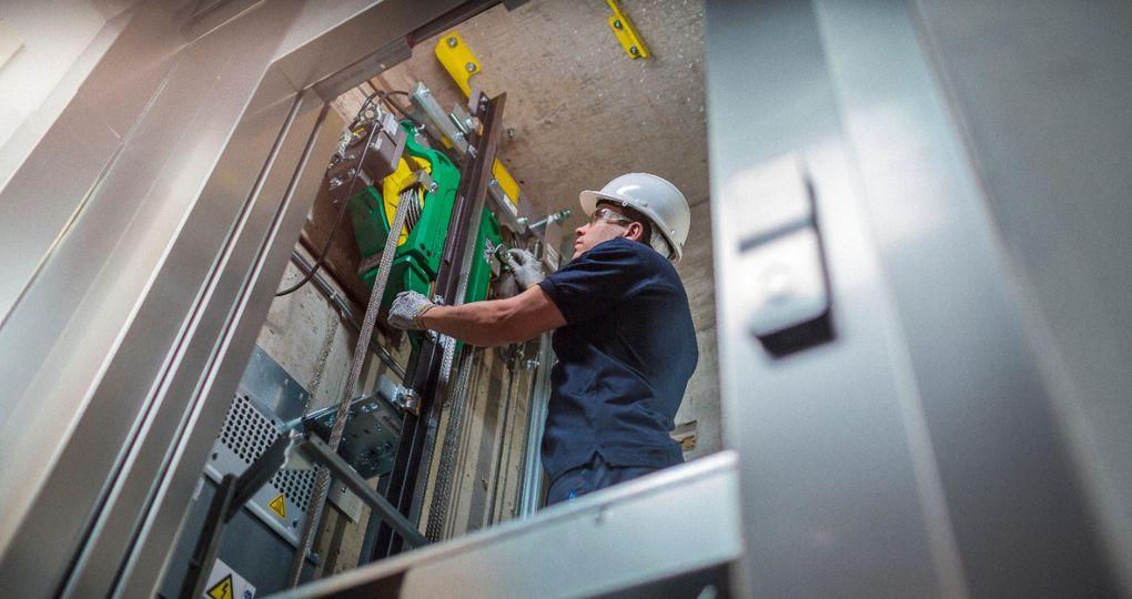 Eerste machinekamerloze lift werd 25 jaar geleden geplaatst