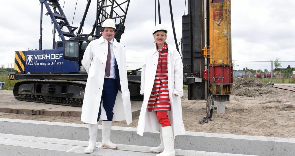 Eerste paal voor duurzame bedrijvenlocatie RijswijkBuiten