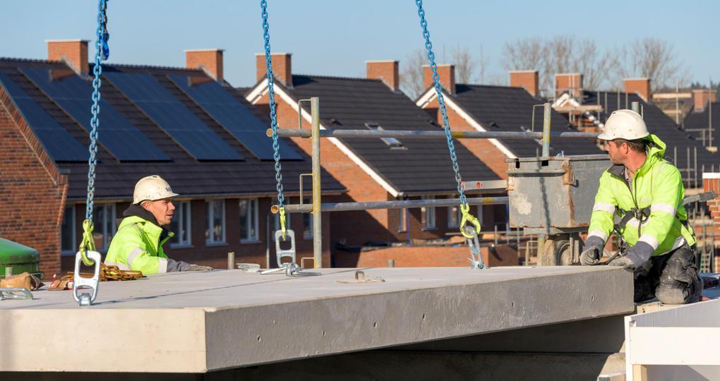 Efficiënte prefab vloer voor industriële woningbouw