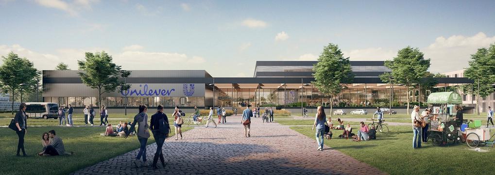 Energieneutrale Unilever-gebouw op campus Wageningen Universiteit
