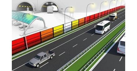 Energie-opwekkend geluidsscherm in 's-Hertogenbosch
