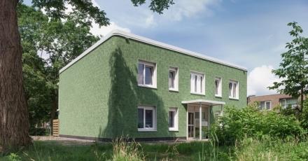 Gebouw met 4 appartementen gerenoveerd naar Nul-op-de-Meter