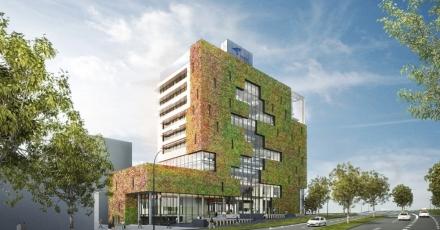 Groene gevel toont duurzaam karakter nieuw stadskantoor Venlo