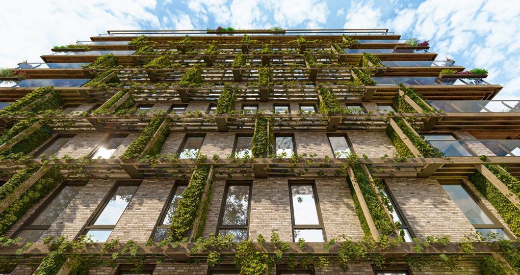 Groene gevel verbindt woningen met bosrijke omgeving