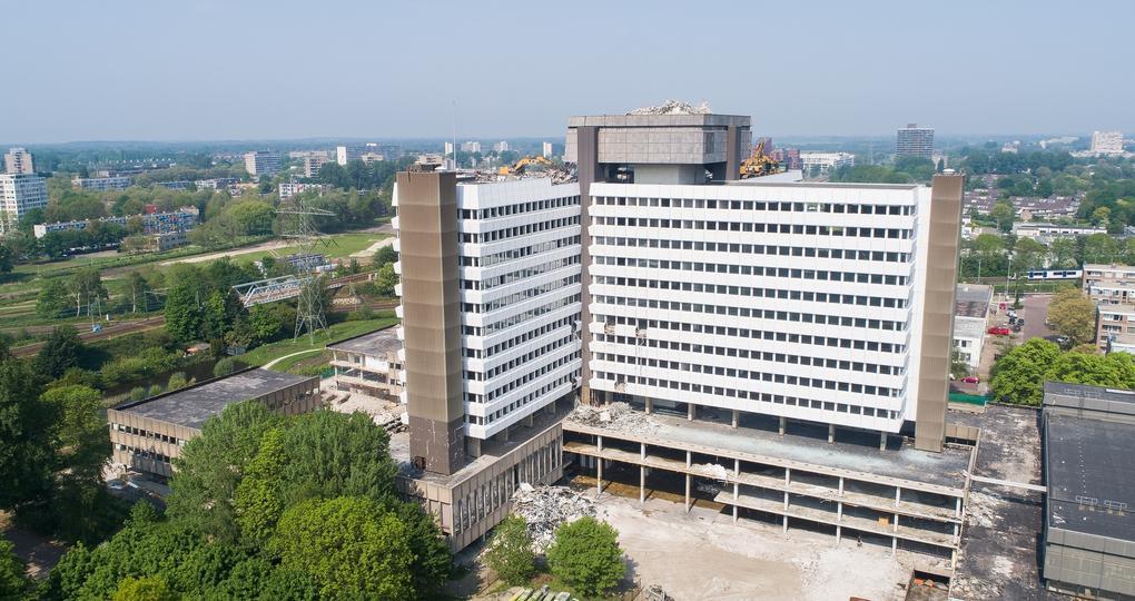 Voormalig CBS-gebouw duurzaam ontmanteld