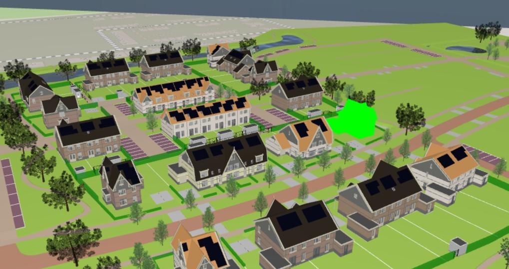 Visualisatie juridische informatie nieuwbouwwoning in 3D
