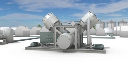 Compressor voedt landelijk aardgasnetwerk met groengas