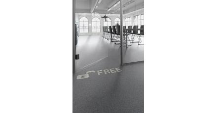 Lichtdoorlatend tapijt op Building Holland