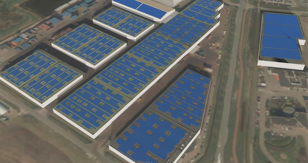Logistiek dienstverlener krijgt grootste zonproject Amsterdam