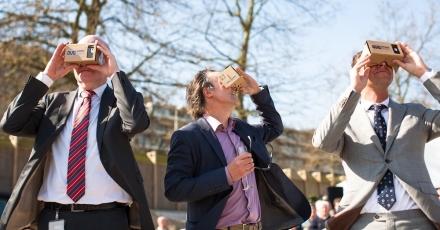 Met virtual reality kijken naar nieuw, duurzaam kantoor