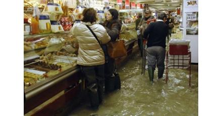 Natte voeten in Venetie