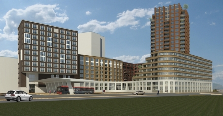 Nieuw centrumgebied met hotel in Amsterdam-Noord