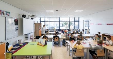 Nieuw onderkomen 'Frisse' bassischool De Schrank