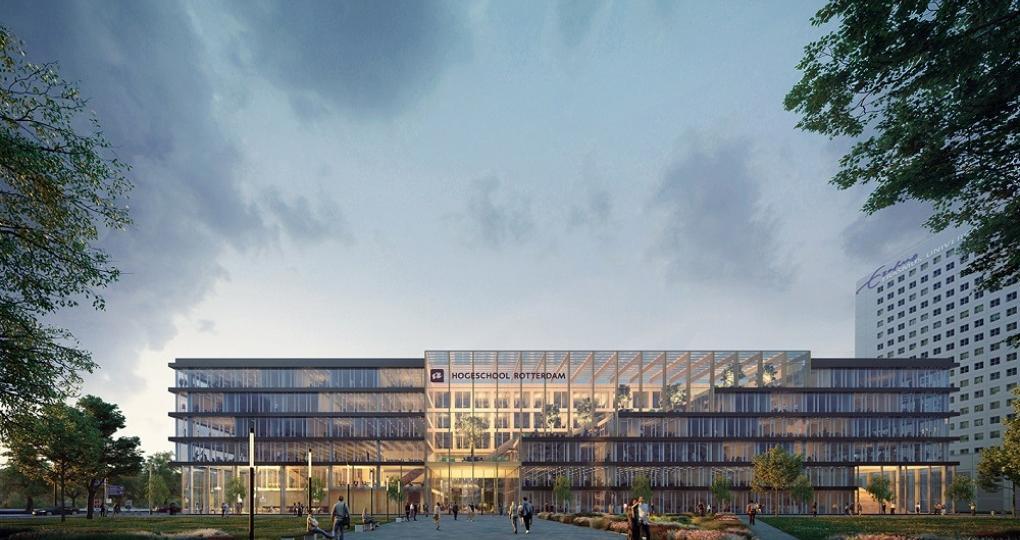 Nieuwbouw Hogeschool Rotterdam is gezond en duurzaam