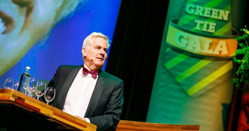 Nog een hoogtepunt van het Green Tie Gala: de speech van Thomas Rau