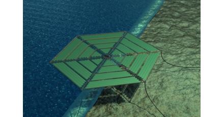 Platform op zee voor zonne-energie