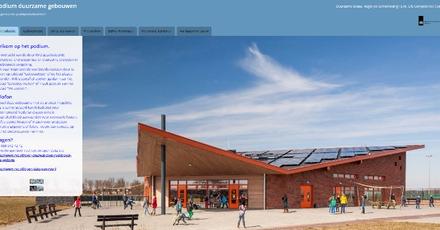 Podium met duurzame en aardgasvrije gebouwen