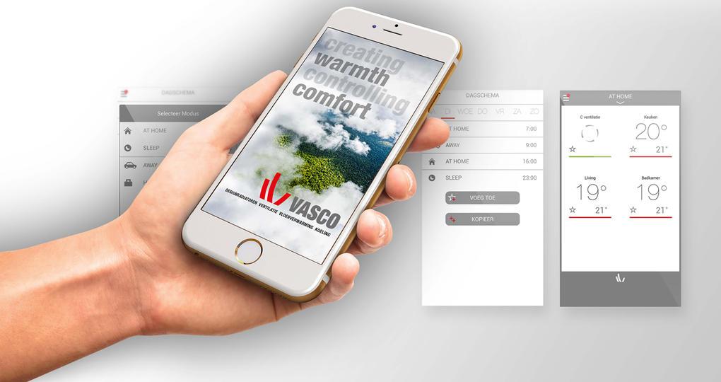 Radiatoren, vloerverwarming en ventilatie te bedienen met één app