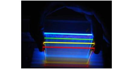 Revolutionair zonnepaneel van geverfd glas