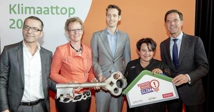 Sleutels 'Groningen woont Slim' uitgereikt tijdens Nationale Klimaattop 2016