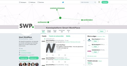 Smart WorkPlace actief op social media