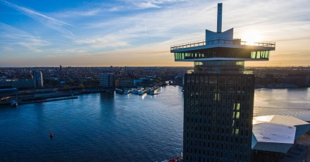 State-of-the-art liften bij A'dam Toren