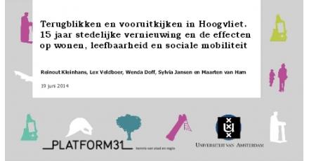 Stedelijke vernieuwing Hoogvliet werkt