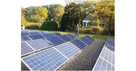 Stroomplantage van 10 kWp in de achtertuin