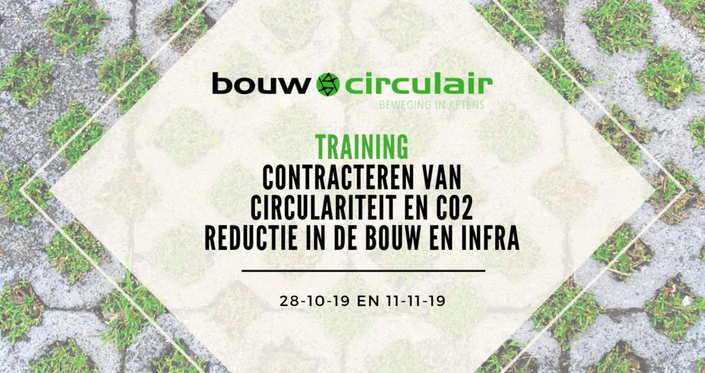 Training Contracteren van Circulariteit en Co2 reductie in de bouw en infra