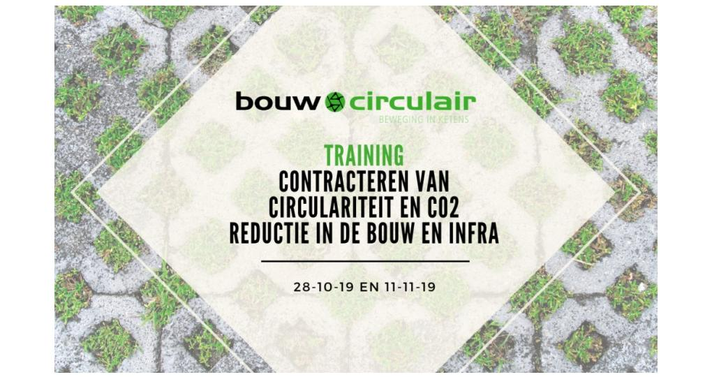 Training Contracteren van circulariteit en CO2-reductie in de bouw en infra