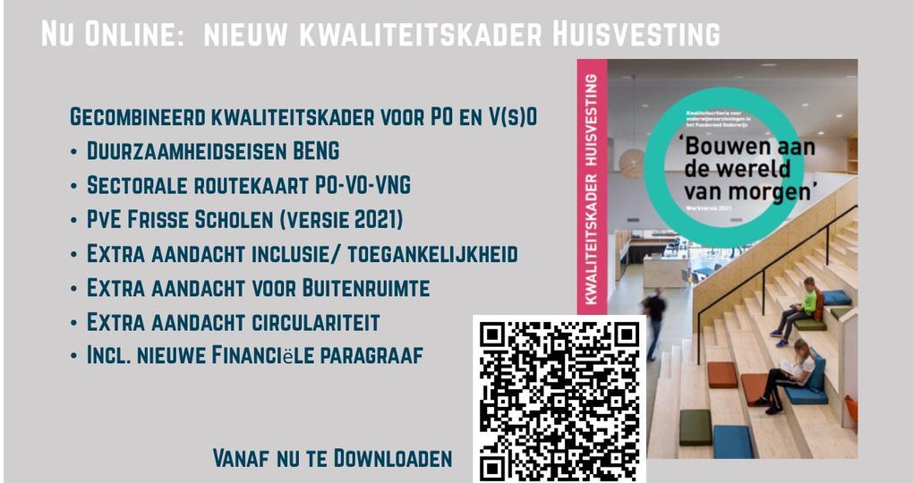 Update Kwaliteitskader Huisvesting voor onderwijsgebouwen gepubliceerd