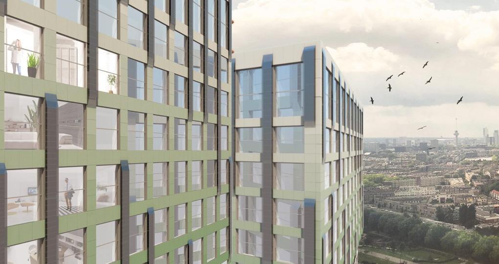 Van inefficiënt kantoor naar energiepositief appartement