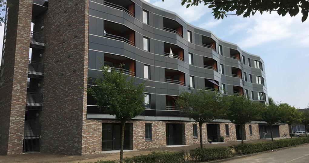 Vijflaags appartementen nul op de meter gerealiseerd
