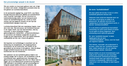 Whitepaper bevat stappenplan voor luchtdicht gebouw