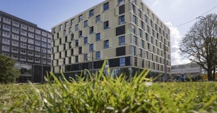 Woongebouw met 280 studentenwoningen op Campus