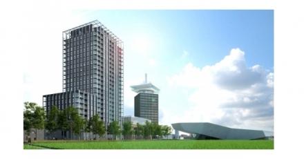 Woontoren Overhoeks Amsterdam met Friends-concept