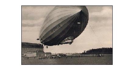 Zeppelin markeert hoogte stadskantoor
