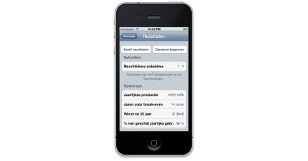 Zonne-energie app